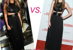 Who rocked it hotter: Leighton Meester or Beyonce in Michael Kors' Fall 2011 Leather-Bodice Gown