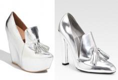 Shoe wars: Alexander Wang 'Anais' Metallic High Heel Loafer vs. Jeffrey Campbell 'Zealous' Pump
