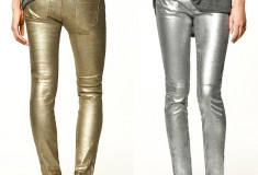 Party rockin' pants: Zara Metallic Trousers in gold or silver
