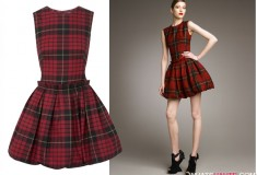 Who rocked it hotter: Emma Watson vs. Rihanna vs. Chloe Moretz in a McQ by Alexander McQueen Tartan Puffball Dress