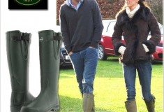 Duchess of Cambridge Kate Middleton and Prince Harry rock matching Le Chameau 'Vierzon' Wellie boots