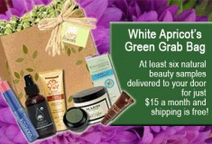 Sample eco-friendly beauty products with White Apricot's 'Green Grab Bag'