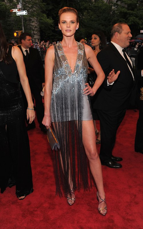 MET Gala 2012 Anne V metallic fringe dress