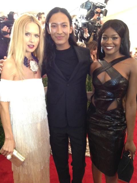 MET Gala 2012 Azealia Banks with Alexander Wang and Rachel Zoe