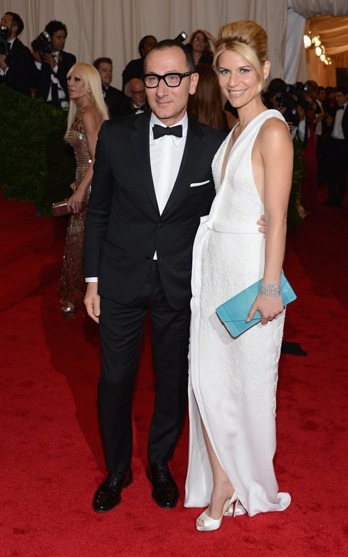 MET Gala 2012 Claire Danes in white gown