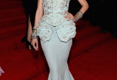 MET Gala 2012 Jessica Stam blue gown