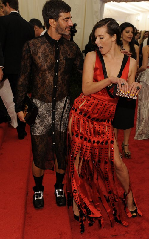 MET Gala 2012 Milla Jovovich Marc Jacobs