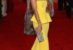 MET Gala Solange Knowles in yellow Rachel Roy