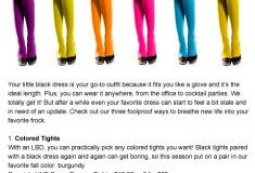 Sponsored: How to Spice Up Your LBD with colored tights and statement accessories