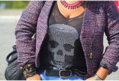 My style: Skulls & boyfriends (e.vil tank + H&M jeans + Prada sandals)