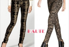 Can you guess which pair of these baroque-print jeans costs over $200 — and which is under $50?