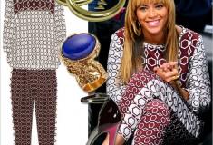 Get her haute look – Beyoncé at the Brooklyn Nets game in Tibi, Erika Peña, YSL and Giuseppe Zanotti