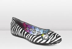 Jimmy Choo and Rob Pruitt CUTIE Zebra Print Glitter Ballet Pumps