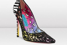 Jimmy Choo and Rob Pruitt signature ANOUK lace, Mirror Leather and Zebra Print Glitter Pump