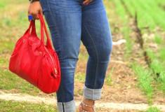My style: Tartan + Peplum (ASOS top + Seven7 jeans + Valentino Rockstud pumps)