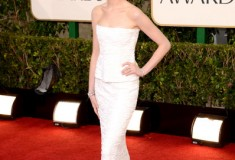 Anne Hathaway at the 70th Annual Golden Globe Awards