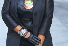 My style: Back to black (Ecru leather sleeve blazer + Black Orchid jeans + Jean-Michel Cazabat curved heel boots)