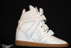 "PMK creates custom kicks for Beyonce: the ""King Bey"" Isabel Marant Wedge Sneaker"