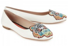 Haute buy: Kenzo Tiger embroidered patent-leather ballerina flats