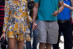 What she wore: Beyoncé in DvF & Thakoon Addition, in Havana, Cuba