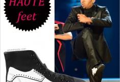 Haute feet: Chris Brown in Be&D Men's Wingtip Sneaker