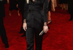 """Jaime King in custom Topshop """"PUNK: Chaos To Couture"""" Costume Institute Gala"""