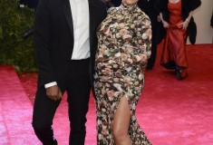 "Kanye West and Kim Kardashian in Riccardo Tisci for Givenchy at the Metropolitan Museum of Art's Costume Institute Gala ""Punk: Chaos to Couture"""