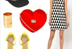 Weekend outfit inspiration: Graphic black & white + pops of color, plus 20% off everything at ASOS!
