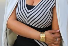 My style: Classic black & white (Ronen Chen dress + Bodhi bag)