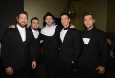 Joey Fatone, Chris Kirkpatrick, Justin Timberlake, JC Chasez and Lance Bass of N'Sync attend the 2013 MTV Video Music Awards