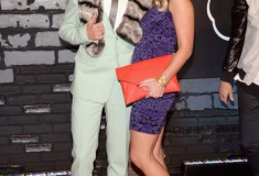 Macklemore and Tricia Davis attend the 2013 MTV Video Music Awards