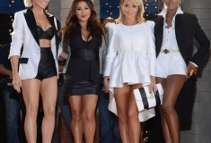 Shannon Bex, Andrea Fimbres, Aubrey O'Day and Dawn Richards of Danity Kane attend the 2013 MTV Video Music Awards