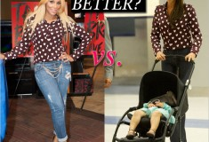 Who wore it better: Tamar Braxton vs. Victoria Beckham in Burberry's Heart-print Shirt