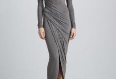 Who Wore it Better: Kim Kardashian or Jennifer Hudson in a Donna Karan Draped Plunging-Neck Dress