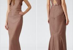 Haute buy: Reiss Hedra Cognac Leather Maxi Dress
