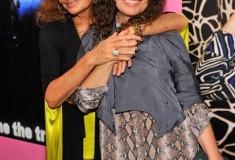 Diane and Tatiana von Furstenberg in the DVF Polly Silk Shirt Dress
