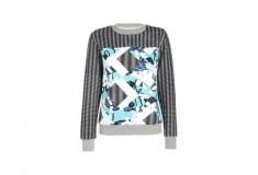Peter Pilotto x Target Sweatshirt blue floral check print