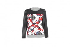 Peter Pilotto x Target Sweatshirt red floral check print
