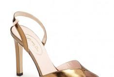 SJP by Sarah Jessica Parker Slim Peep Toe Pump in Bronze Specchio