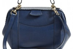 SJP by Sarah Jessica Waverly Leather Crossbody Bag in blue