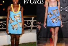 Lupita Nyong'o wears a Fausto Puglisi palm tree dress to accept Rainmaker Award