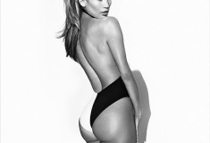 J. Lo gives us 'Booty' envy in a black and white swimsuit + get the look!