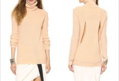 Haute Hippie Cutout Turtleneck Sweater