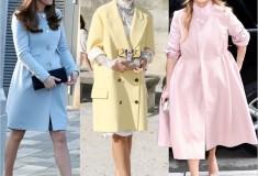Pastel winter coats: Kate Middleton, Mira Duma and Jennifer Lopez