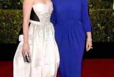 Tina Fey in Antonio Berardi and Amy Poehler in Stella McCartney