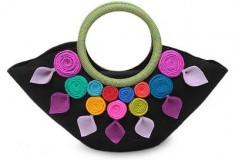 Andean Color Wool handle handbag