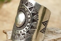 Hill Tribe Sun Handmade Sterling Silver Wrap Ring