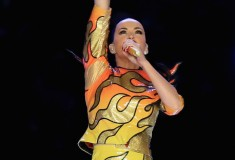 Katy Perry Rocks Out in Jeremy Scott for Super Bowl XLIX