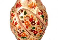 Magical Paradise Hand Crafted Copper and Gold Leaf Vase from Mexico