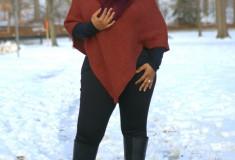 Novica Autumn Splendor Women's Alpaca Wool Poncho